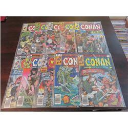 Conan the Barbarian #90 through #99 inclusive