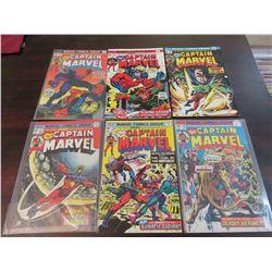 Captain Marvel #34 through #39 inclusive