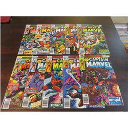 Captain Marvel #50 through #59 inclusive