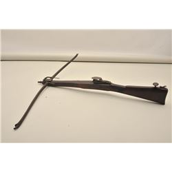English bullet shooting crossbow circa 1800-1840 measuring approximately 32