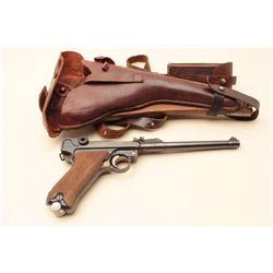 Artillery Luger semi-automatic pistol dated 1917, 9mm caliber, 8 barrel,