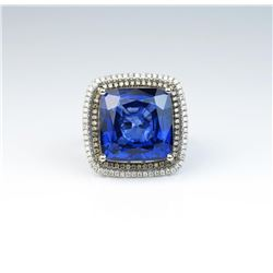 One of a kind ladies ring featuring large 21.50 carat