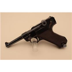 Krieghoff 1936 dated Luger semi-automatic pistol, 9mm caliber, 4 barrel,