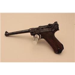 1902 Navy Luger semi-automatic pistol, 9mm caliber, 6 barrel, 1917-dated,