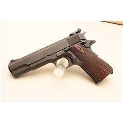Colt Model 1911-A1 semi-automatic Match pistol, .45 caliber, 5 barrel,