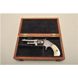 Otis Smith spur trigger revolver, Nimschke engraved, .30 caliber, 3
