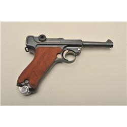 1920 Commercial Luger semi-automatic pistol, .30 caliber, 4 barrel, blued