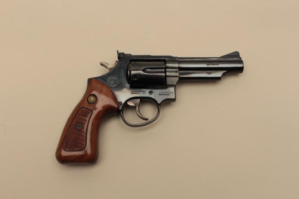 Taurus DA revolver,  357 Magnum caliber, 4 barrel, blued finish,