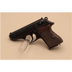 Walther Model PPK semi-automatic pistol, eagle C marking, 7.65mm caliber,