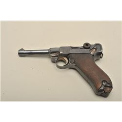 Luger semi-automatic pistol by DWM dated 1913, 9mm caliber, 4