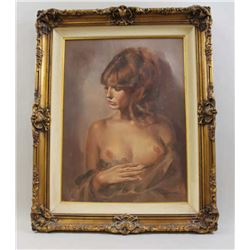 Original signed print of nude lady by Leo Jansen. approx.