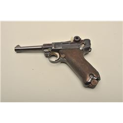 Mauser Banner Luger semi-automatic pistol, 1939-dated, 9mm caliber, 4 barrel,