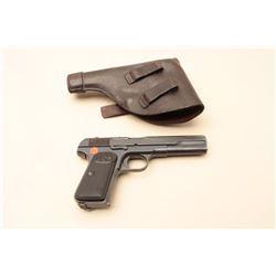 FN Browning 1902 semi-automatic pistol, .380 caliber, 5 barrel, blued