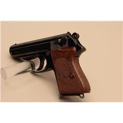 Walther Model PPK semi-automatic pistol, 7.65mm caliber, 3.25 barrel, blued