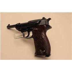 P-38 semi-automatic pistol marked byf 44, 9mm caliber, 4.75 barrel,