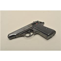 Walther Model PP semi-automatic pistol, 9mm kurz caliber, 3.75 barrel,