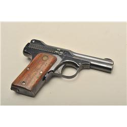 Smith  Wesson .35 caliber semi-automatic pistol, 3.5 barrel, blued