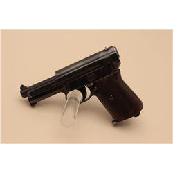 Mauser pocket semi-automatic pistol, .32 caliber, 3.5 barrel, blued finish,