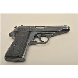 Walther Model PP semi-automatic pistol, .22LR caliber, 3.75 barrel, blued