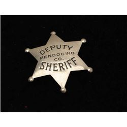 Vintage 6 point star with ball tips badge marked Deputy