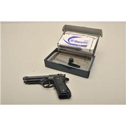 Beretta Model 92S semi-automatic pistol, 9mm caliber, 5 barrel, blued