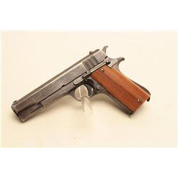 Argentine Ballester Molina semi-automatic pistol marked GENDARMERIA NACIONAL, .45 caliber,