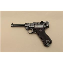 Luger S/42 marked semi-automatic pistol, import-marked and rebuilt, 9mm caliber,