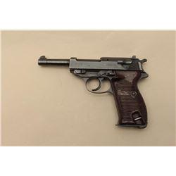 P-38 semi-automatic pistol, cyq-marked, 9mm caliber, 4.75 barrel, blued finish,