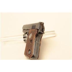 Colt .25 caliber, semi-automatic pistol, 2 barrel, blued finish, checkered