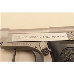 Beretta Model 950 BS pocket semi-automatic pistol, .25 caliber, 2.5