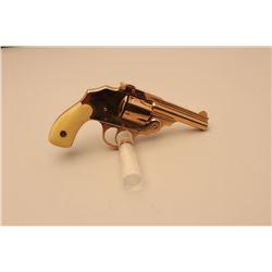 Iver Johnson top break hammerless DA revolver, .38 caliber, 3.25