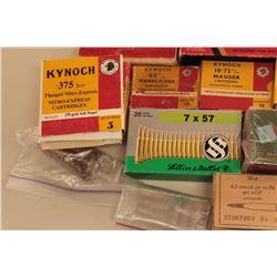 Bonanza lot of vintage ammunition. The lot includes vintage boxes