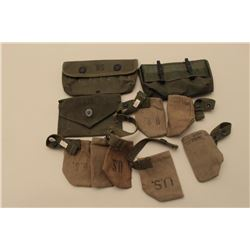 Lot of misc. U.S. canvas muzzle covers and pouches. Est.: