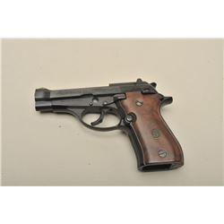 Beretta Model 84B semi-automatic pistol, 9mm short caliber, 3.75 barrel,