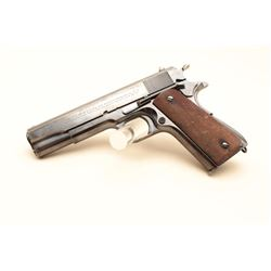 Colt Government Model semi-automatic pistol, .45 caliber, 5 barrel, blued