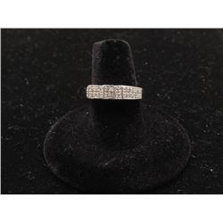 Designer ring in 14k white gold set with 54 fine