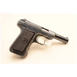 Savage semi-automatic pistol, .32 caliber, 3.75 barrel, blued finish, checkered