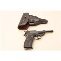Carl Walther Model P-38 semi-automatic pistol, 9mm caliber, 4.75 barrel,
