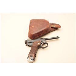 Japanese Nambu semi-automatic pistol, 8mm caliber, 4.5 barrel, blued finish,