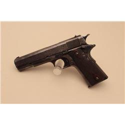 Colt Model 1911 semi-automatic pistol, .45 caliber, 5 barrel, dark