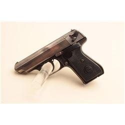 J.P. Sauer semi-automatic pistol, 7.65mm caliber, 3.25 barrel, blued finish,