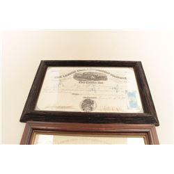 Lehigh Coal  Navigation, Phila 1871 stock certificate, 1897. Est.:
