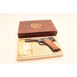 Colt Huntsman Model semi-automatic pistol, .22LR caliber, 4.5 barrel, blued