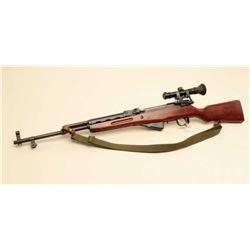 Chinese SKS semi-automatic rifle, 7.62 x 39mm caliber, black finish,