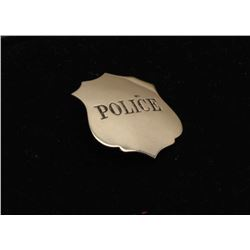 Vintage Police marked shield badge. Est.: $100-$150.
