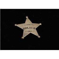 Vintage 5 point star with ball tips badge marked Police.