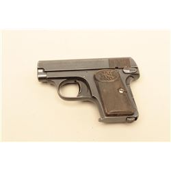 FN Browning Patent .25 caliber Semi-Auto pocket pistol, S/N 417739.