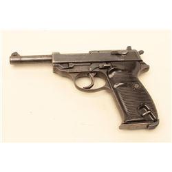 P.38 by CYQ in 9mm caliber, S/N 9058n. Late Nazi