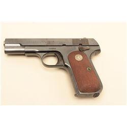 Colt 1908 .380 caliber semi-auto pistol, S/N 95807. Very good