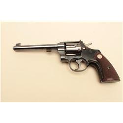 Colt Officers Model .22 caliber Target revolver with 6 barrel,